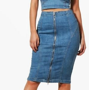 NWT Parisian Piper Bodycon Denim Pencil Skirt